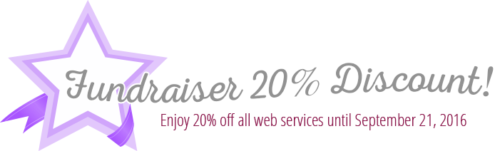 Fundraiser 20% Off Discount