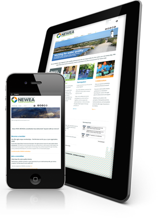 A phone and a tablet showing a responsive website.